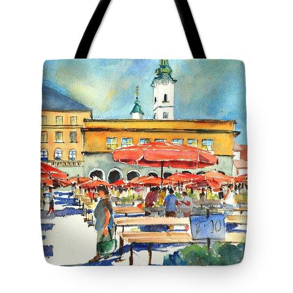 Dolce Market In Zagreb #1 Tote Bag
