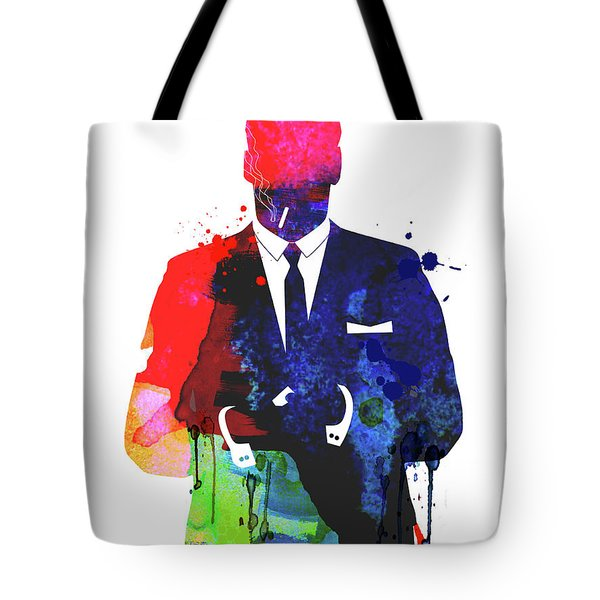 Don Draper Watercolor Tote Bag