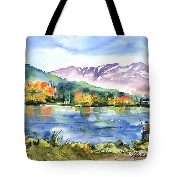 Donner Lake Fisherman Tote Bag