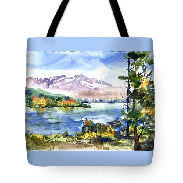 Donner Lake Fisherman Tote Bag