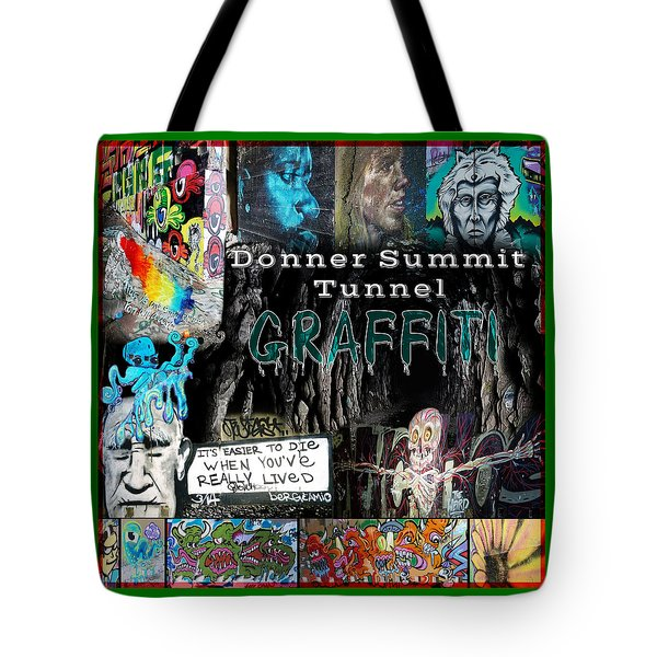 Donner Summit Graffiti Tote Bag