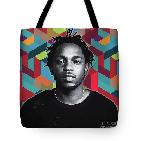 Tote Bag featuring the painting Don't Kill My Vibe Kendrick by Carla B