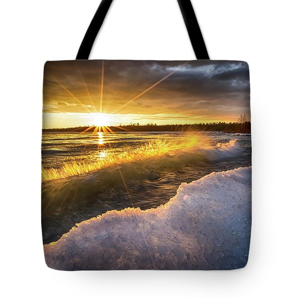 Door County Sunset Tote Bag