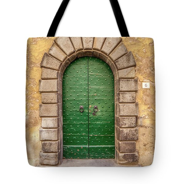 Tote Bag featuring the photograph Door Six Of Cortona by David Letts