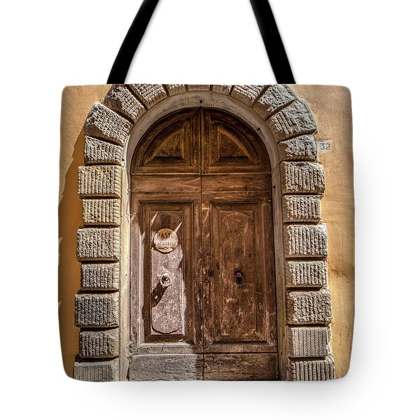 Tote Bag featuring the photograph Door Thirty Two Of Tuscany by David Letts