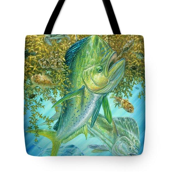 Dorados Hunting In Sargassum Tote Bag