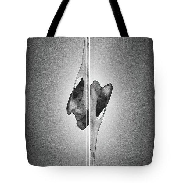 Dormiveglia Black - Surreal Abstract Bird Skull And Lines Tote Bag