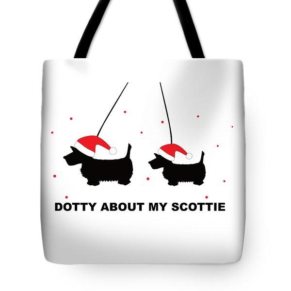Dotty About My Scottie - Xmas Tote Bag
