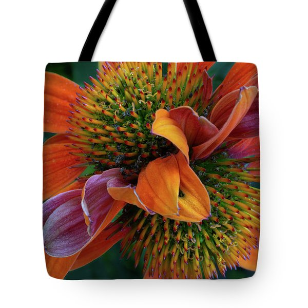 Tote Bag featuring the photograph Double Coneflower by Dale Kincaid