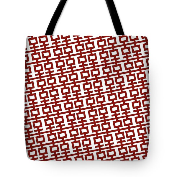 Double Happiness Red And White Tote Bag