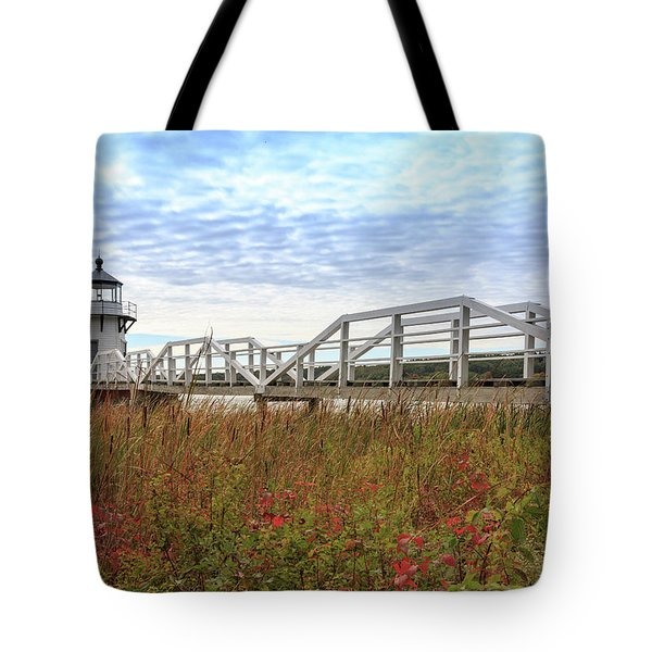 Doubling Point Lighthouse In Maine Tote Bag