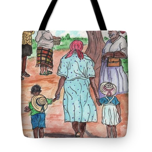Down The Red Road And Past The Magnolia Tree Tote Bag