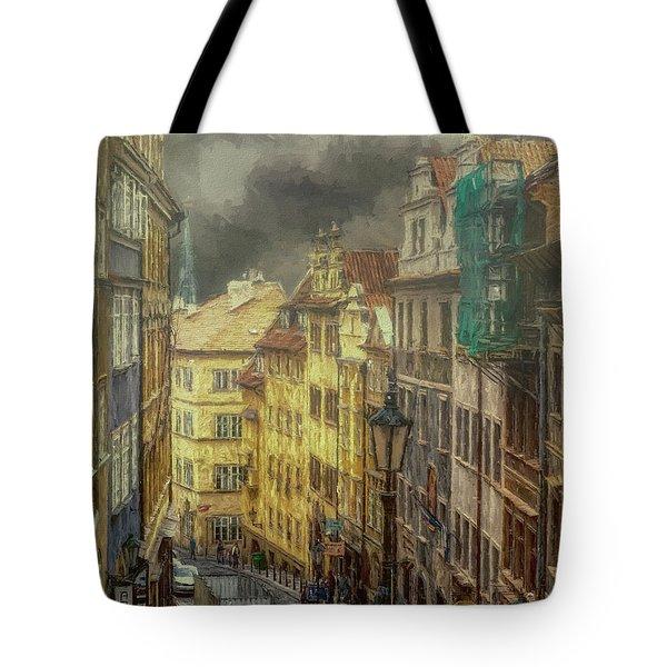 Downhill, Downtown, Prague Tote Bag
