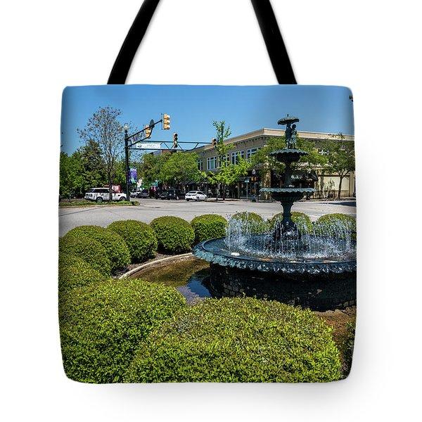 Downtown Aiken Sc Fountain Tote Bag
