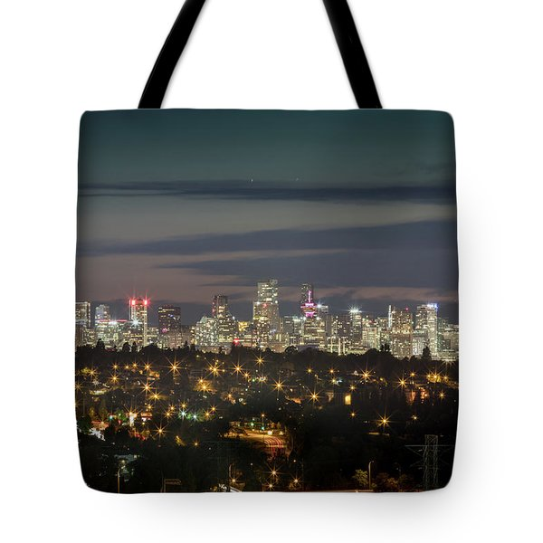 Downtown Dusk Tote Bag