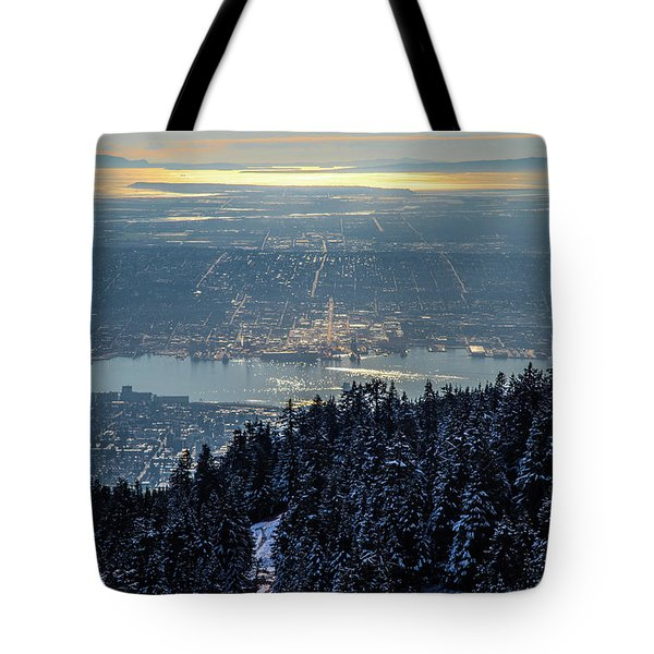 Tote Bag featuring the photograph Downtown by Ross G Strachan