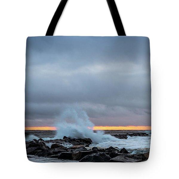 Dramatic Beginnings. Tote Bag