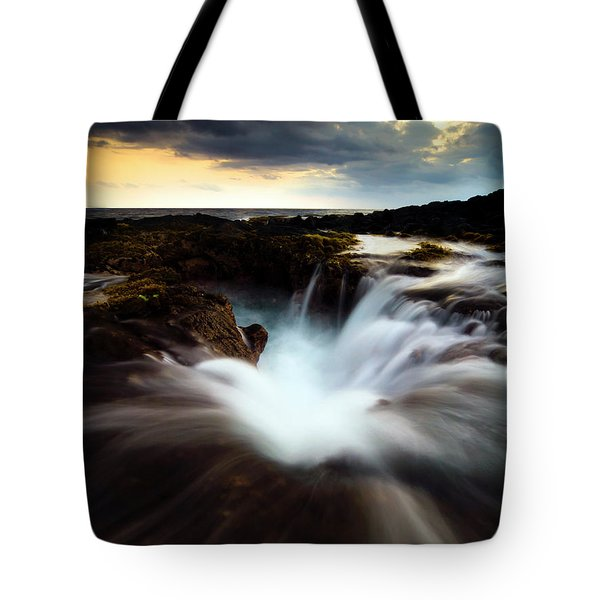 Dramatic Blow Hole Tote Bag