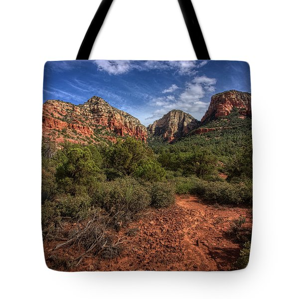 Tote Bag featuring the photograph Dramatic Cloudscape Over Capitol Butte by Andy Konieczny