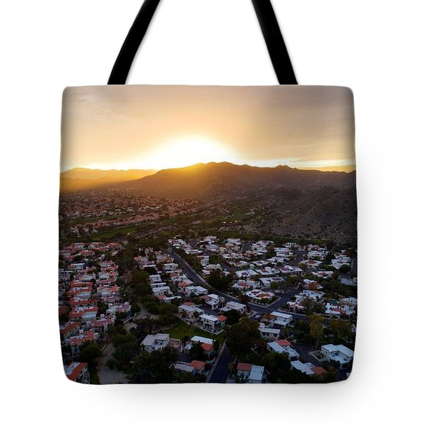 Dramatic South Mountain Sunset Tote Bag