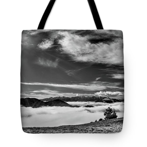 Tote Bag featuring the photograph Dramatic Yet Serene by Leland D Howard