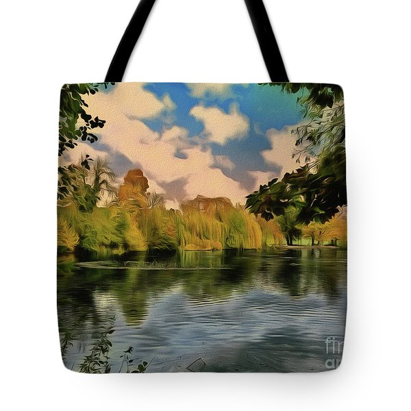 Tote Bag featuring the photograph Drawn To Water by Leigh Kemp