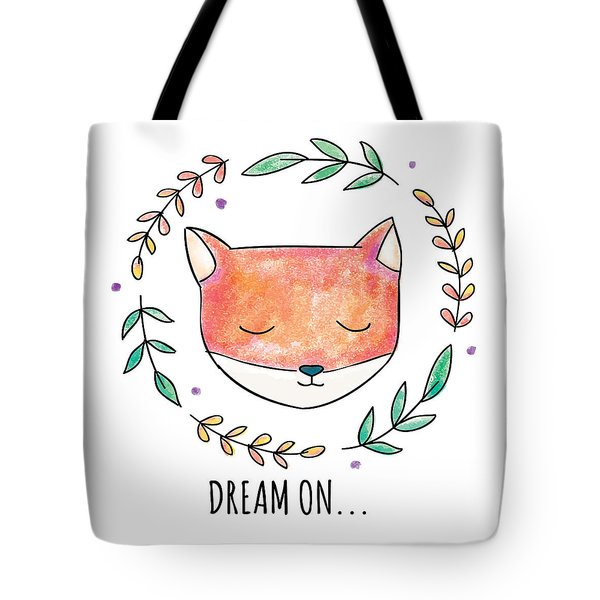 Dream On - Boho Chic Ethnic Nursery Art Poster Print Tote Bag