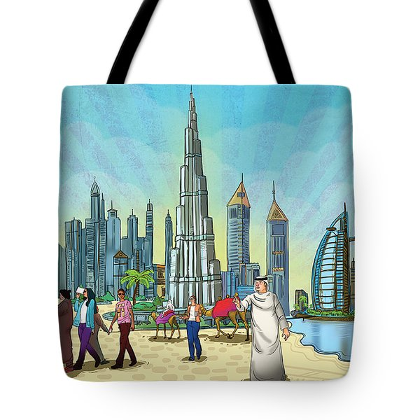 Dubai Illustration  Tote Bag