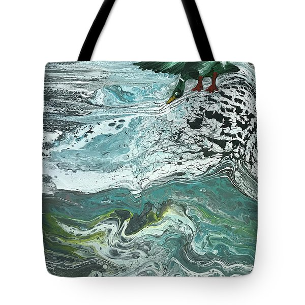 Duck At The River Tote Bag