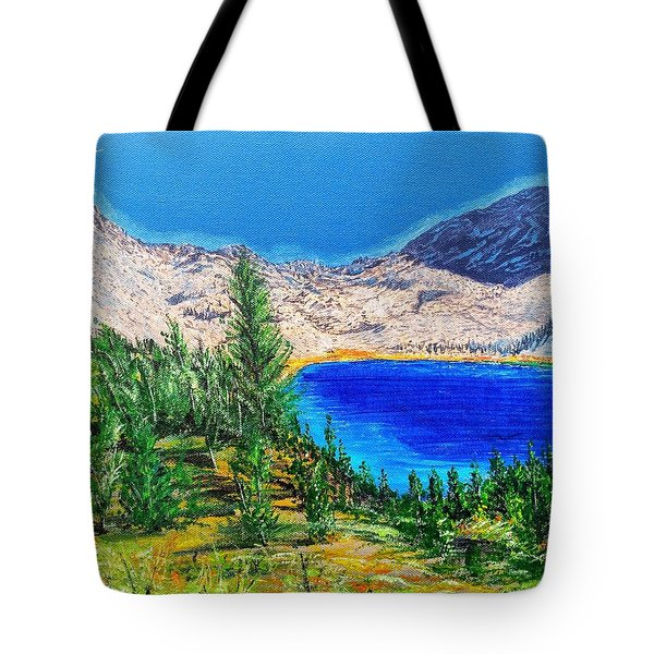 Tote Bag featuring the painting Duck Pass by Kevin Daly