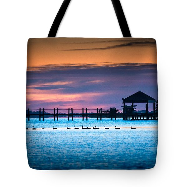 Duck Sunset - Outer Banks North Carolina Tote Bag