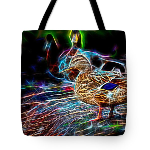 Ducks On Shore Wizard Tote Bag