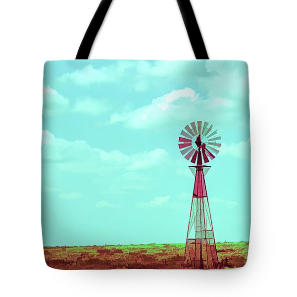 Dueling Tones Windmill Tote Bag