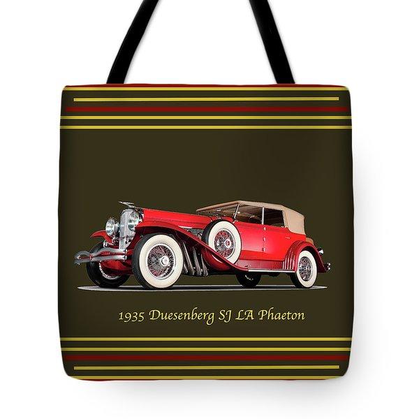 Duesenberg 1935 Tote Bag