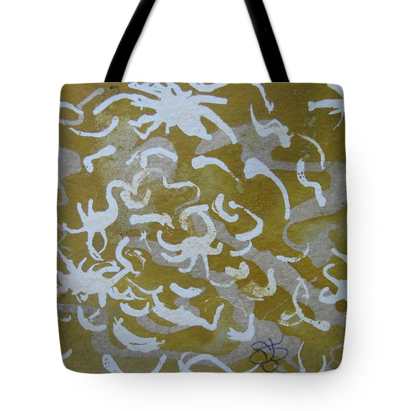 Dull Yellow With Masking Fluid Tote Bag