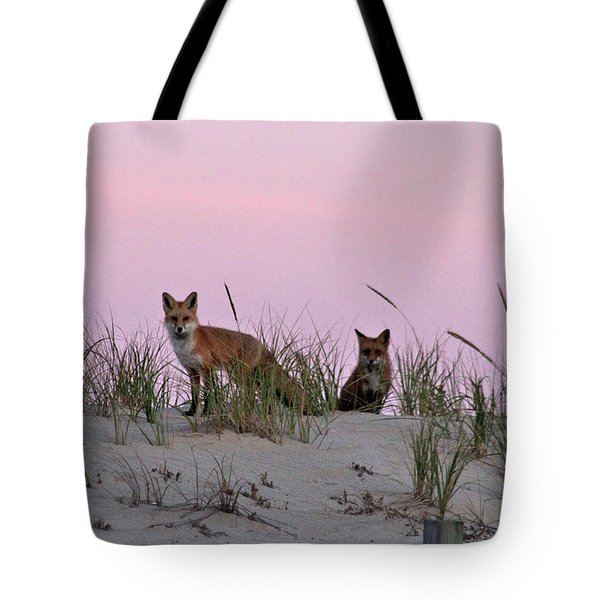 Dune Foxes Tote Bag