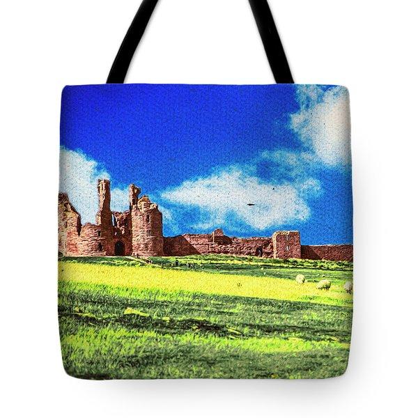 Dunstanburgh Castle In Oil Tote Bag