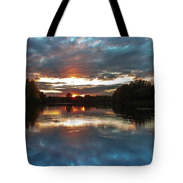 Tote Bag featuring the photograph Dusk Aquarelle by Davor Zerjav