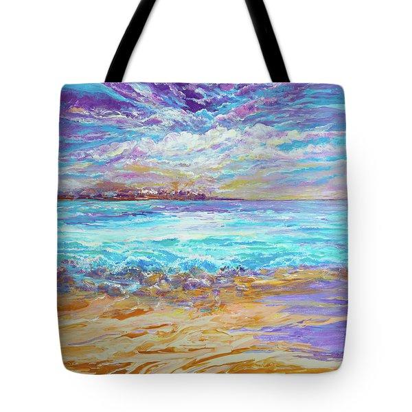 Dusk At The Beach Tote Bag