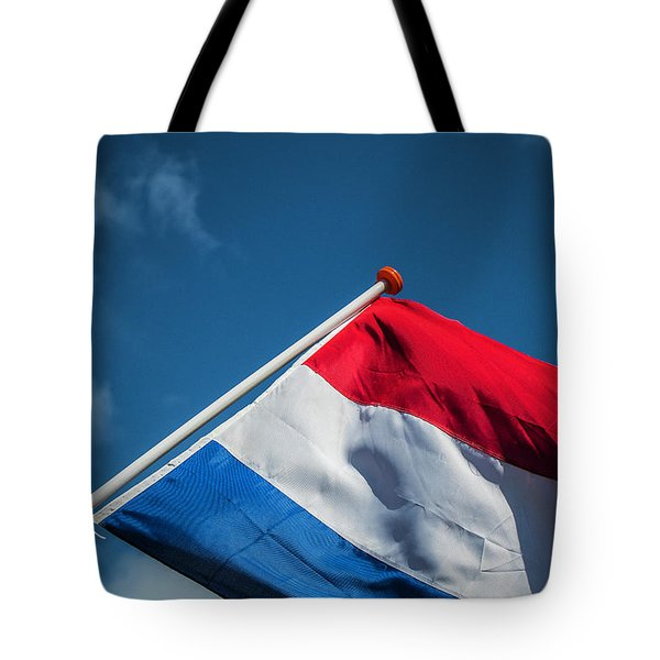 Tote Bag featuring the photograph Dutch Flag by Anjo Ten Kate