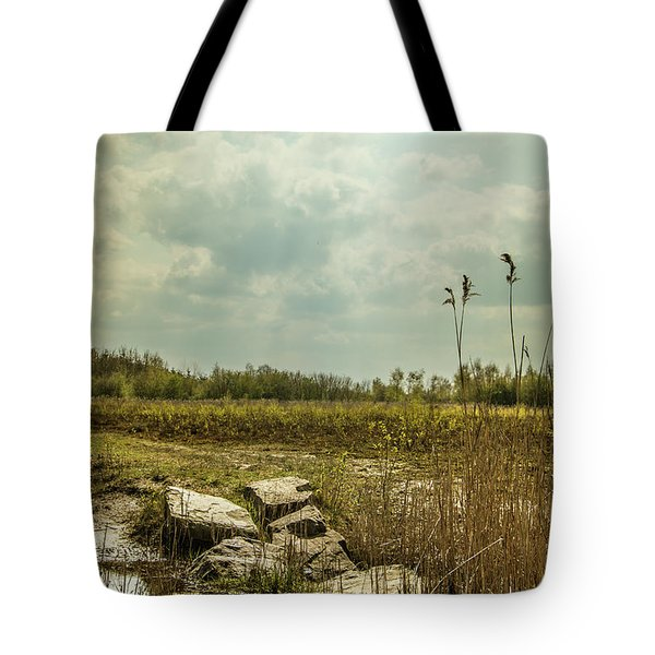 Tote Bag featuring the photograph Dutch Landscape. by Anjo Ten Kate