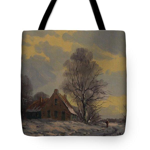 Dutch Snow Landscape Tote Bag