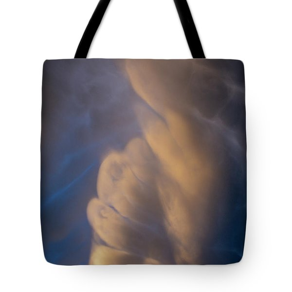 Dying Thunderstorms At Sunset 017 Tote Bag