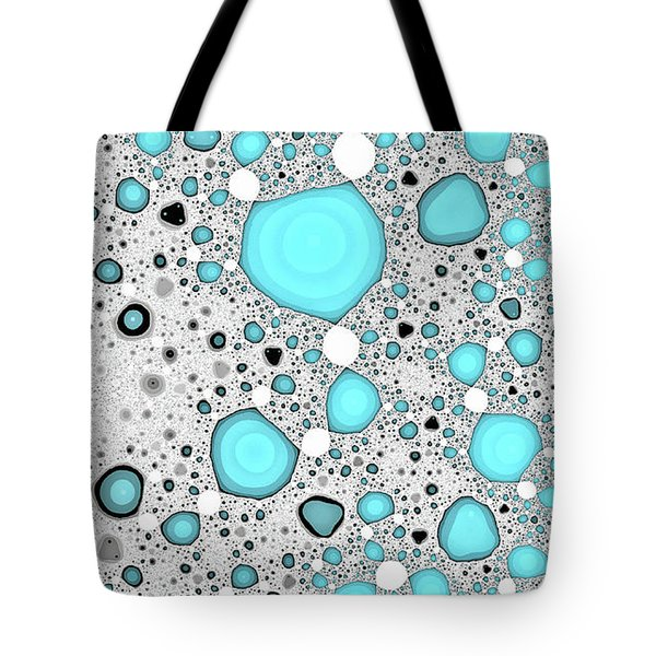 Dynamic Moonscape Blue Abstract Art Tote Bag