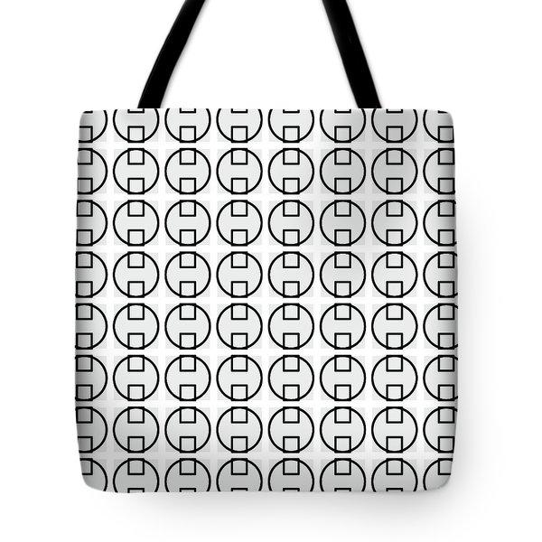 E - Circuare Monochrome - 064 Tote Bag