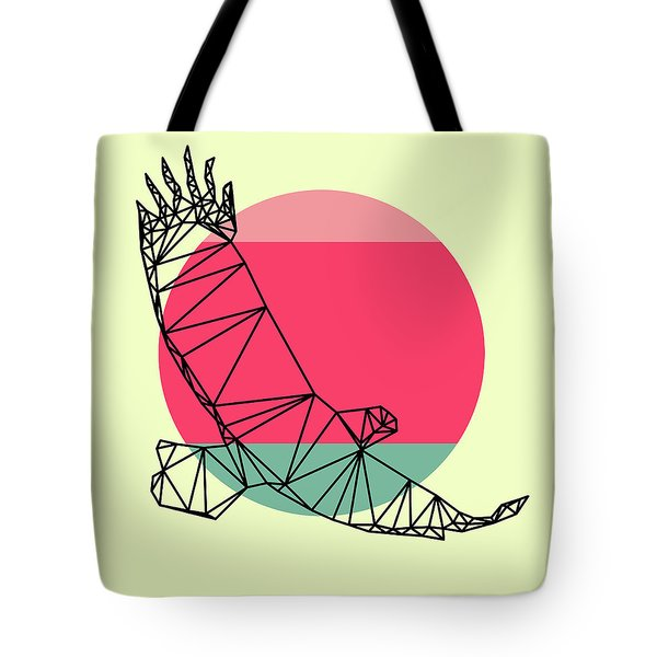 Eagle And Sunset Tote Bag