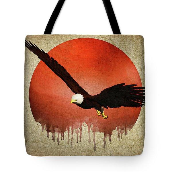 Eagle Flying Tote Bag