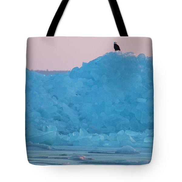 Eagle On Ice Mackinaw City 2261803 Tote Bag