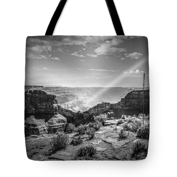 Eagle Rock, Grand Canyon In Black And White Tote Bag