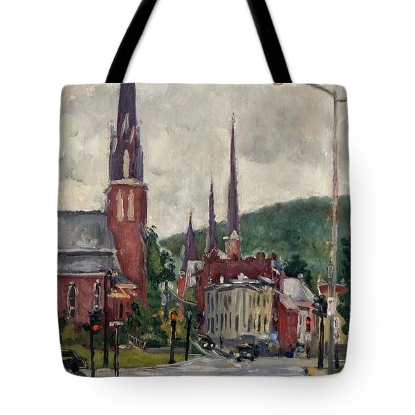 Eagle Street North Adams Rain Tote Bag